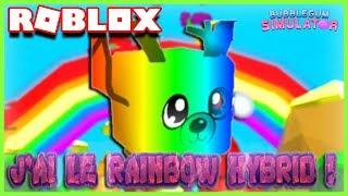 J'AI LE RAINBOW HYBRID !! | Roblox Bubble Gum Simulator