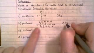 Alkane - structures