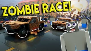LEGO ZOMBIE SURVIVAL RACE! - Brick Rigs Multiplayer Challenge Gameplay - Lego City Street Race