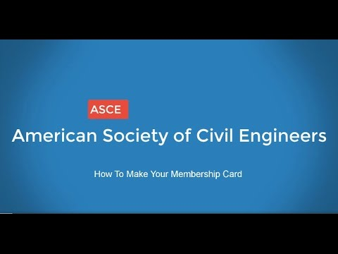 How To Make Your Membership Card - ASCE