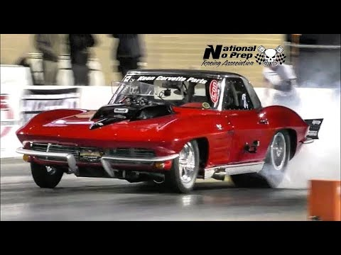 Death Trap Chuck vs Shannon Poole's Nitrous Corvette at Galot No Prep Kings