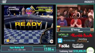 Awesome Games Done Quick 2015 - Part 20 - Super Monkey Ball by Barhunga