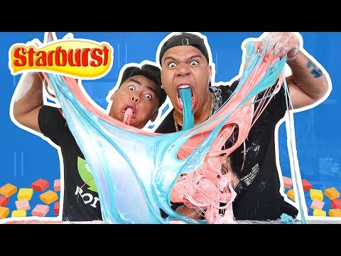 Thumbnail: DIY GIANT EDIBLE CANDY SLIME!! GIANT STARBURST SLIME ft. Guava Juice