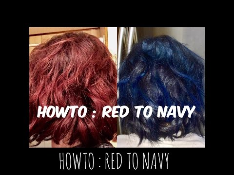 HOWTO : RED TO NAVY BLUE HAIR