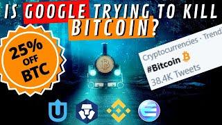 Bitcoin VS Google   Get 25% OFF BTC   BTC Trend on Twitter   Binance Enjin NFTs   Crypto News