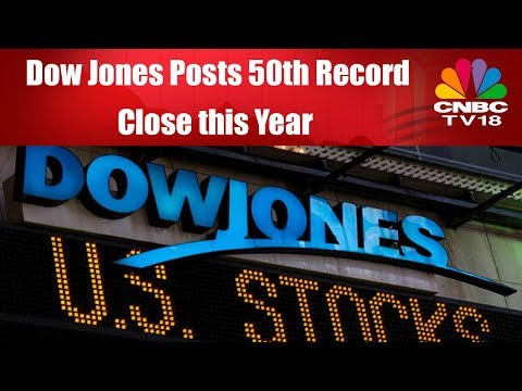 Dow Jones Posts 50th Record Close this Year | CNBC TV18