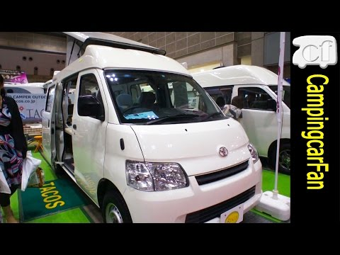 【ハナ イブ】 ポップアップルーフを持つコンパクトバンコンキャンピングカー Japanese Campervan Campingcar