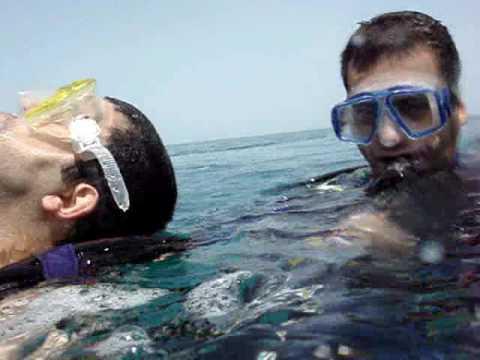 Diving Bateen breakwater, Ocean Diver Rescue training,  Abu-Dhabi, 28/4/2007