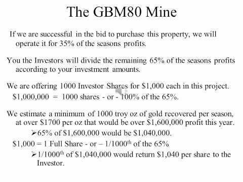 The GBM80 Turn Key Mine Project