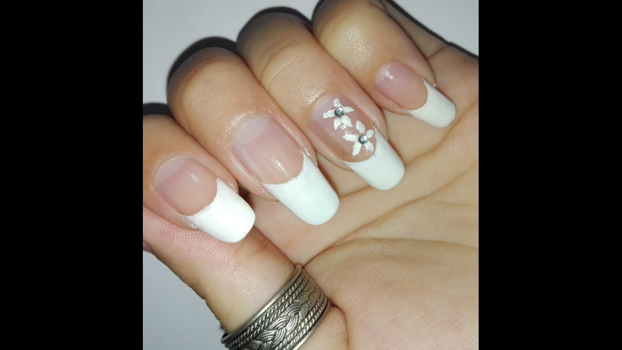 Easy Diy Clic French Manicure Tutorial For Long Nails No Tools