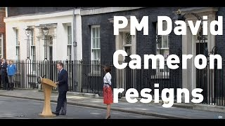 Full speech: PM David Cameron resigns as UK leaves European Union