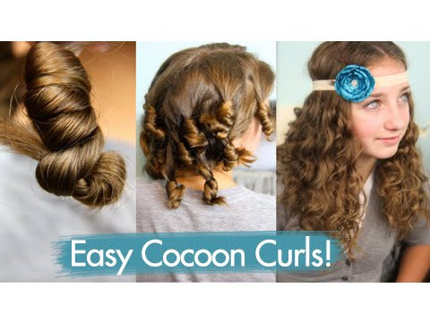 Cocoon Curls   Easy No-Heat Curls   Cute Girls Hairstyles