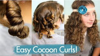 Cocoon Curls | Easy No-Heat Curls | Cute Girls Hairstyles