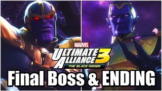 Marvel Ultimate Alliance 3: The Black Order - Final Boss Fight (Thanos & Thane), ENDING, & Credits