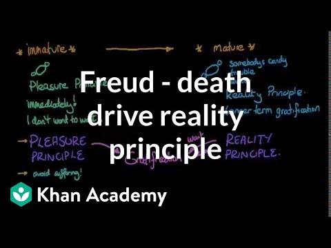 Freud - Death drive, reality principle, and pleasure principle | Behavior | MCAT | Khan Academy