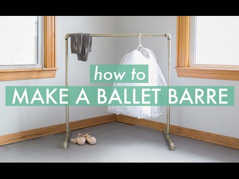How to Make a Ballet Barre! : pvc pipe ballet barre - www.happyfamilyinstitute.com