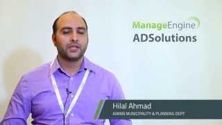 ManageEngine ADSolutions Customer Speaks - Hilal Ahmad 2017 Video