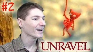 КОТЕНОК ЯРНИ в СКАНДИНАВСКОМ ЛЕСУ! Прохождение Unravel. #2