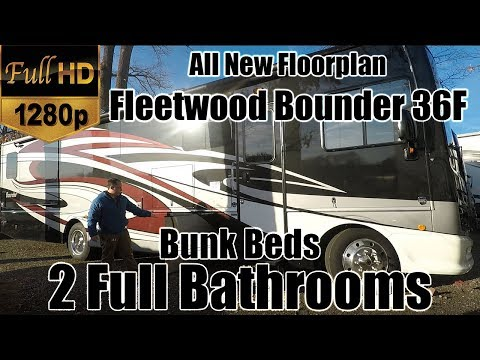 2018 Fleetwood Bounder 36F (RV REVIEW) NEW FLOORPLAN - Bunk Beds with 2 Full Bathrooms - Class A