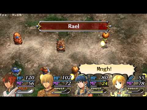 PSP Legend of Heroes : A Tear of Vermillion Gameplay