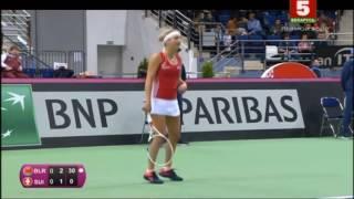Fed Cup.Belarus - Switzerland. Day 2. Aliaksandra SASNOVICH vsTimea BACSINSZKY