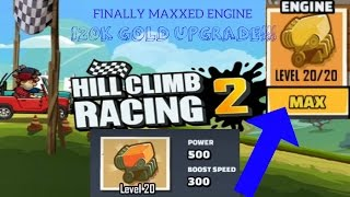 Hill Climb Racing 2: BEST UPGRADE MAX ENGINE| Road To Max Sports Car