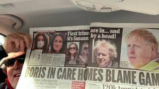 The absolutely shameless Boris Johnson washes his hands of the Covid 19 Care Home killing fields ‬
