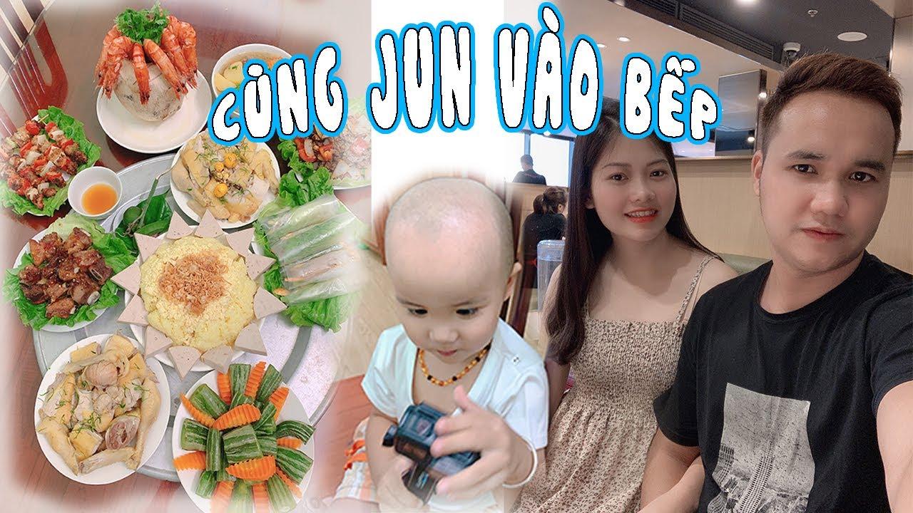 Gia Đình Jun Jun   Cùng Jun Vào Bếp Nấu Tết Vu Lan   Ba Mẹ Jun Đại Náo Siêu Thị Mặt Đất
