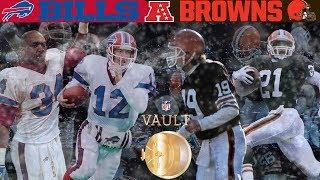 The Duel on Dirt! (Bills vs. Browns, 1989 AFC Divisional Playoffs) | NFL Vault Highlights
