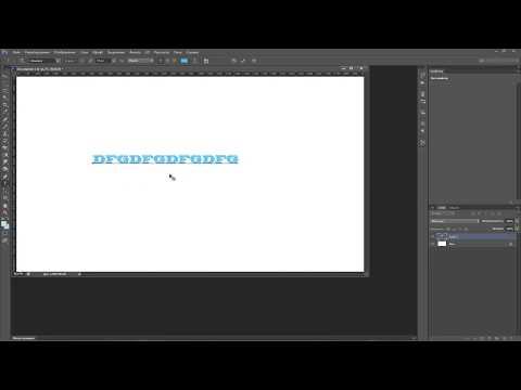 Как сделать написанный текст жирнее и более объемным в программе Photoshop CS6