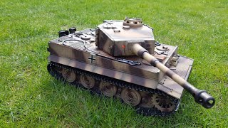 Video RC Tank 1:16 Taigen Tiger 1 (PROFI) - unboxing and first run download MP3, 3GP, MP4, WEBM, AVI, FLV November 2017
