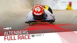 Altenberg | BMW IBSF World Cup 2017/2018 - Women's Skeleton Heat 1 | IBSF Official