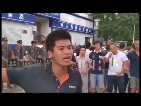 深圳佳士科技工人建工会被抓被打,到派出所抗议/视频