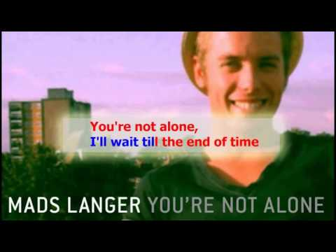 Mads Langer   You are not alone Karaoke