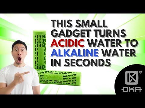 Okaline Alkaline Biostick able to turn acidic water to alkaline water in seconds