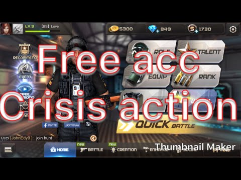 Free acc crisis action,មានdiamonds 850,kh crisis action