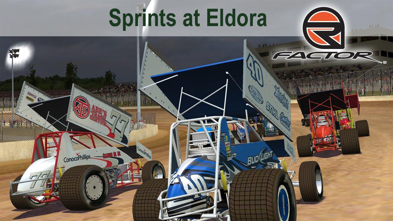 rFactor - Dirtworks Designs - Sprint Cars at Eldora - YouTube