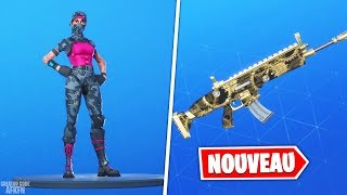 "NEW SKIN ""CHASSEUSE ÉCLAIREUSE"" - CAMO ""ENGRENAGES""! FORTNITE BATTLE ROYALE"