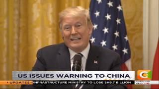 Trump warns China #DayBreak