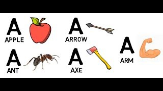 Phonics Song with TWO Words - A For Apple - ABC Alphabet Songs with Sounds for Children|KIDS RHYMES