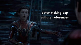 peter parker making pop culture references