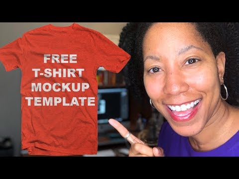 Free Photoshop T-Shirt Mockup Template for Pinterest, Blogs or Social Media