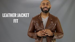How A Men's Leather Jacket Should Fit/How To Buy A Men's Leather Jacket