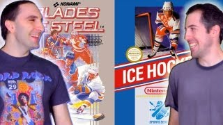 Retromancers ep.8 - Ice Hockey / Blades of Steel : Nintendo NES Retro Game Review / Let