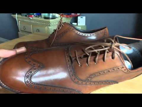 Cole Haan Air Madison British Tan Oxford Wingtip Dress Shoes