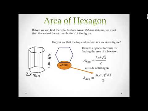 Hexagonal Prism: Lateral Surface Area, Total Surface Area, and Volume