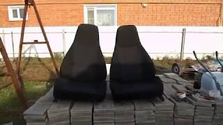 видео Чехлы на сидения ВАЗ-2107