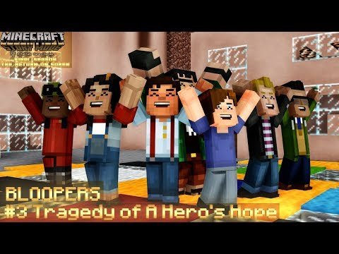 (MMD) Tragedy Of A Hero's Hope BLOOPERS  [Minecraft: Story Mode Final Season]