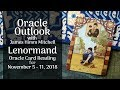 Oracle Outlook: Lenormand Reading for November 5 -11, 2018