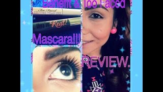 BENEFIT & TOO FACED: They're Real & Better Than Sex MASCARA. REVIEW!! Thumbnail